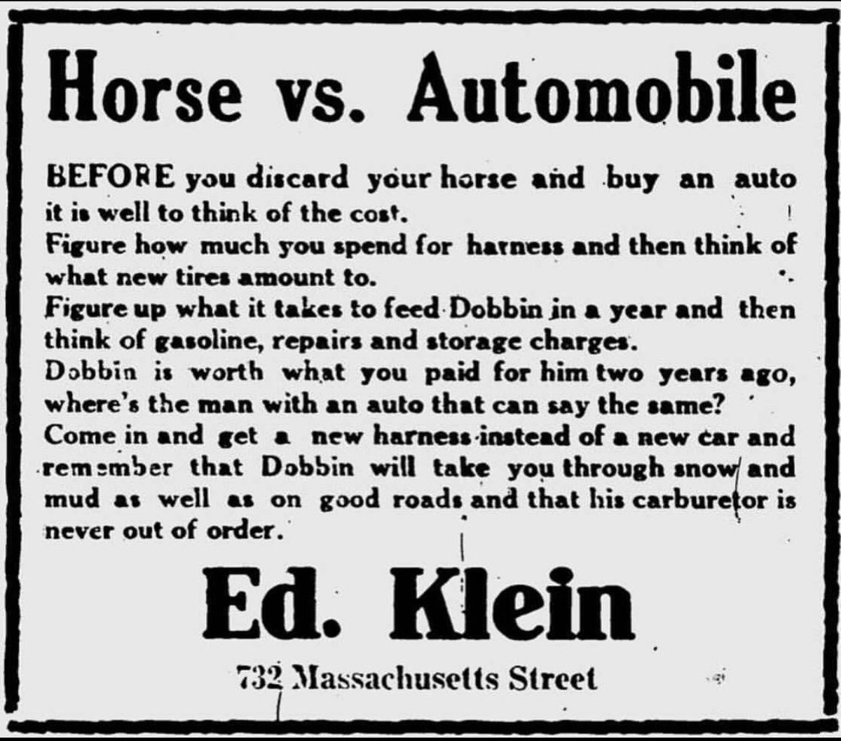 Horses are even self-driving!