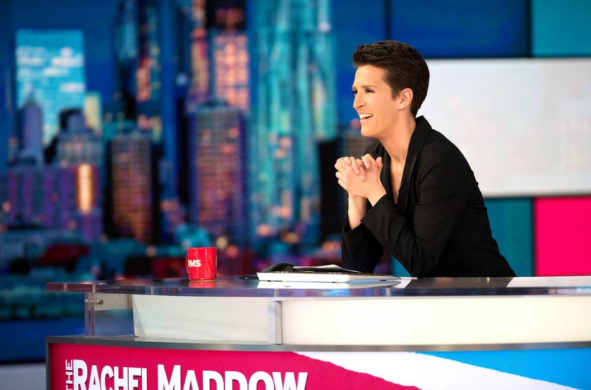 The Rachel @Maddow Show is the #1 regularly scheduled show in all of cable for the 2nd straight month in total viewers and is #1 in cable news in A25-54. https://t.co/eCByrMhnxK