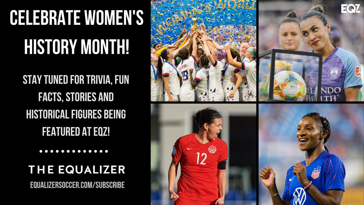 This month is Women's History Month. There are so many incredible women in the game of soccer — and beyond!   Let us know who you want us to highlight! We'll be spotlighting players throughout the month‼️