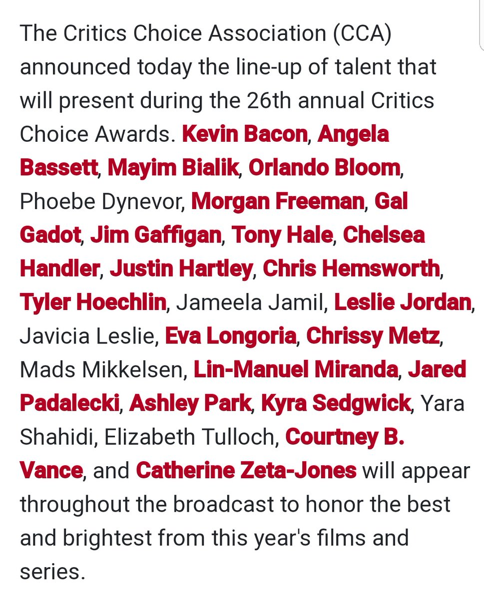 . @jarpad is going to be presenting at the Critics Choice Awards live on The CW on Sunday, March 7, 2021 7-10pm ET/PT #Walker ⭐