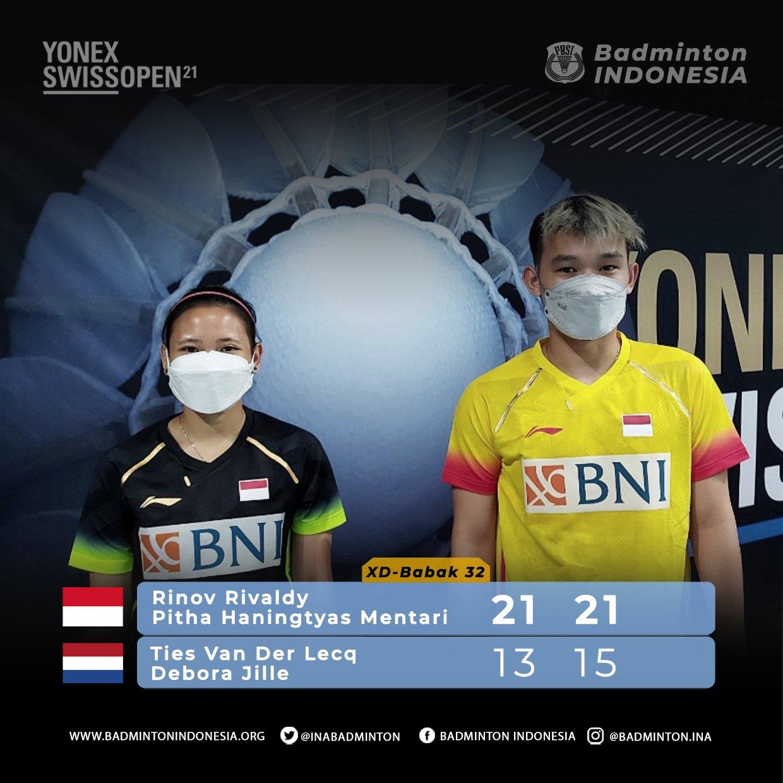 Rinov Rivaldy/Pitha Haningtyas Mentari menang