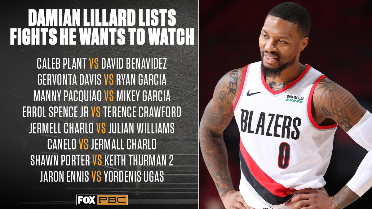 Last October, Damian Lillard named some fights he would like to see 👀  Do you agree?