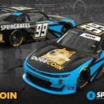 Much wow. VERY VROOM!   @dogecoin joins @springrates at @LVMotorSpeedway with @StefanParsons98 behind the wheel!  To learn more: https://t.co/eDkuGAsIve