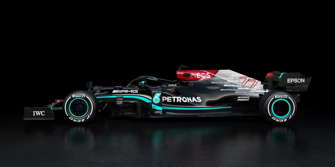 Welcome the W12! 🖤 AMD is proud to join the @MercedesAMGF1 team for an incredible 2021 on the F1 track.