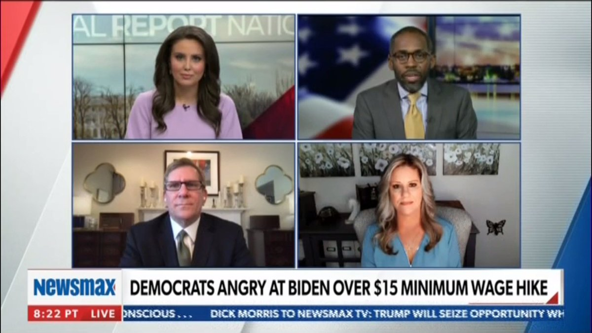"""""""You see small businesses pushing back on this $15 hike in minimum wage. It's a problem, and the Democrats are having their own issues because the progressives are out of control.""""—@PARISDENNARD"""