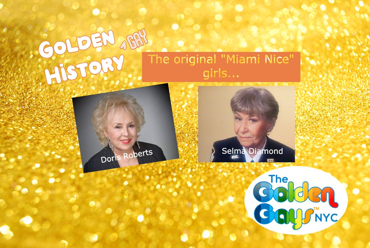 In the lore of all things #GoldenGirls, the original ladies of a certain age in Miami were inspired by #DorisRoberts and #SelmaDiamond in a little promo they did for NBC. Check out the details at the link below. you know other details!?    #GoldenGayHistory