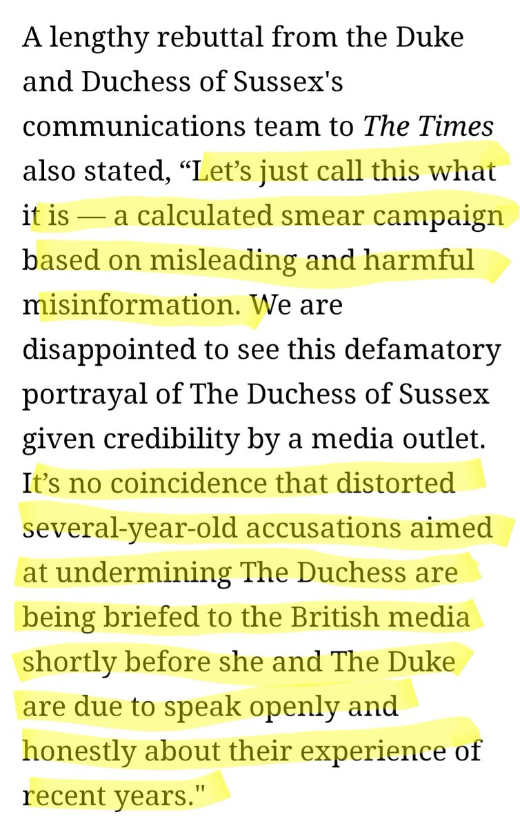See the highlighted portions?  We know. #istandwithMeghan #DuchessofSussex #MeghanMarkle #Meghan #OprahWinfrey #CBS #youtried #staymad