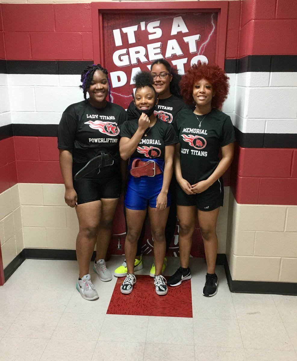 Wish these Lady Titans good luck, they will be competing in the regional powerlifting meet tomorrow in Houston! #PA #LadyTitans #ProudCoach