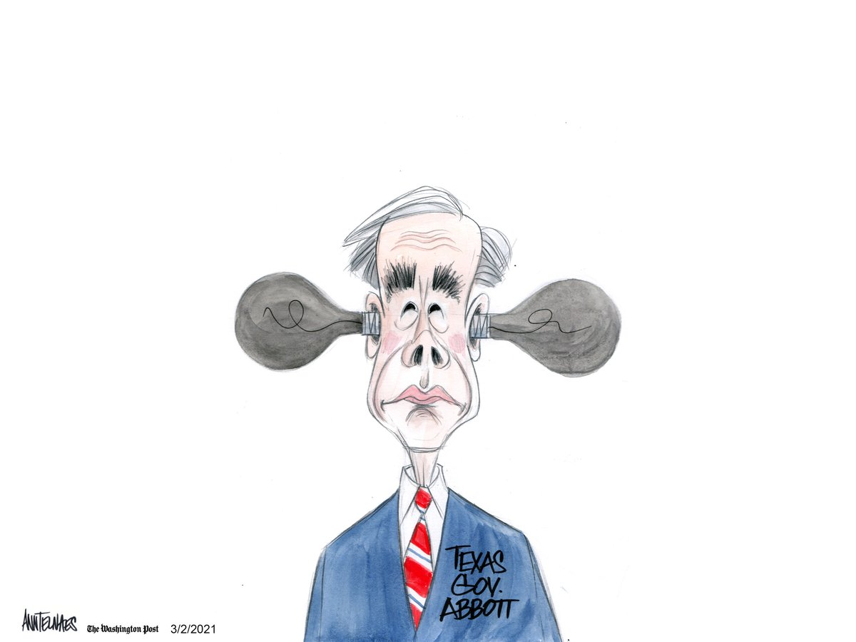 Opinion | Lights are out again in Texas Texas Gov. Greg Abbott (R) ends the statewide mask mandate. washingtonpost.com/opinions/2021/…