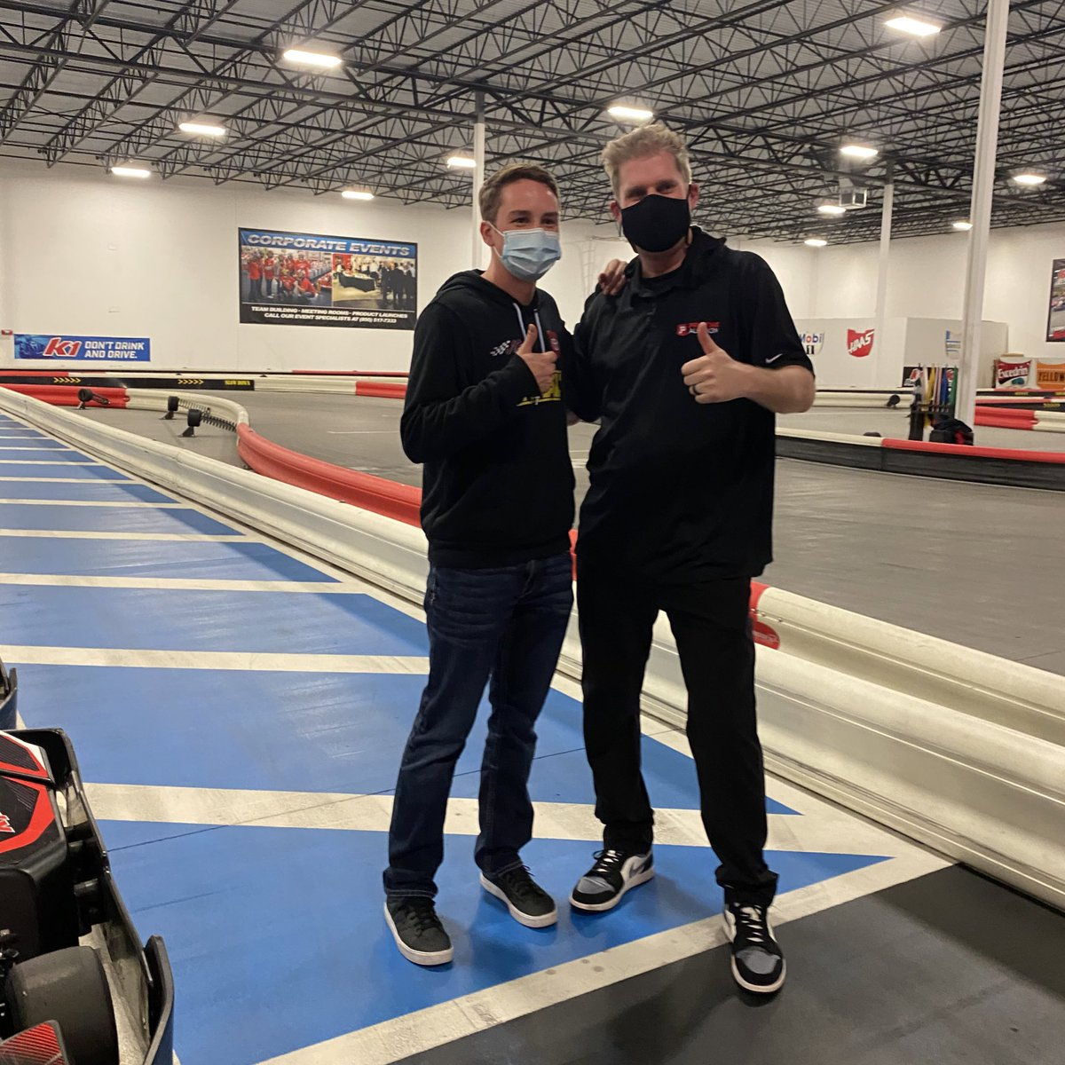 Don't hate when sponsor hang outs end up at the go kart track 😁 thanks for having me @PristineAuction!