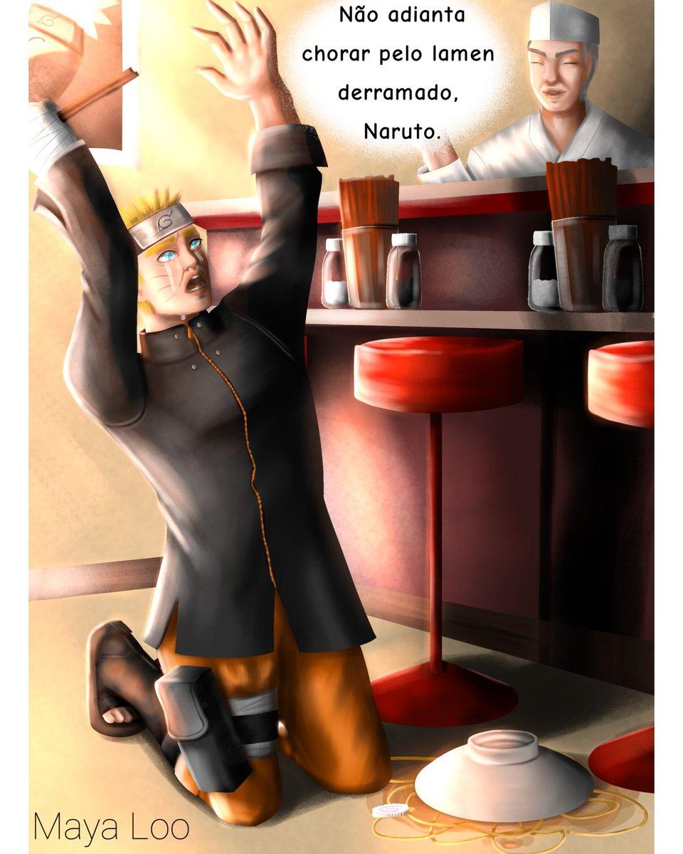 Poxa menino Naruto, cuidado com a tua comida dattebayo 😔✊ força   #desenho #drawn #digital #art #arte #ilustração #illustration #paint #pintura #fanart #anime #naruto #uzumaki #hokage #shippuden #boy #garoto #food #comida