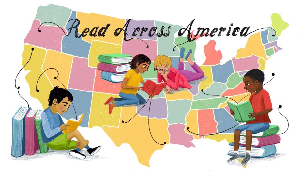 Happy #ReadAcrossAmericaDay ! Where will your next story take you? 🗺📖✨ #kidlit #kidlitillustrator