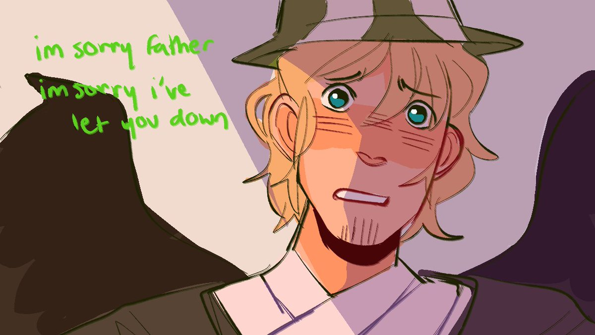 to entice you guys to get excited about this animatic im working on have a few frames of it   #philzafanart #tommyinnitfanart