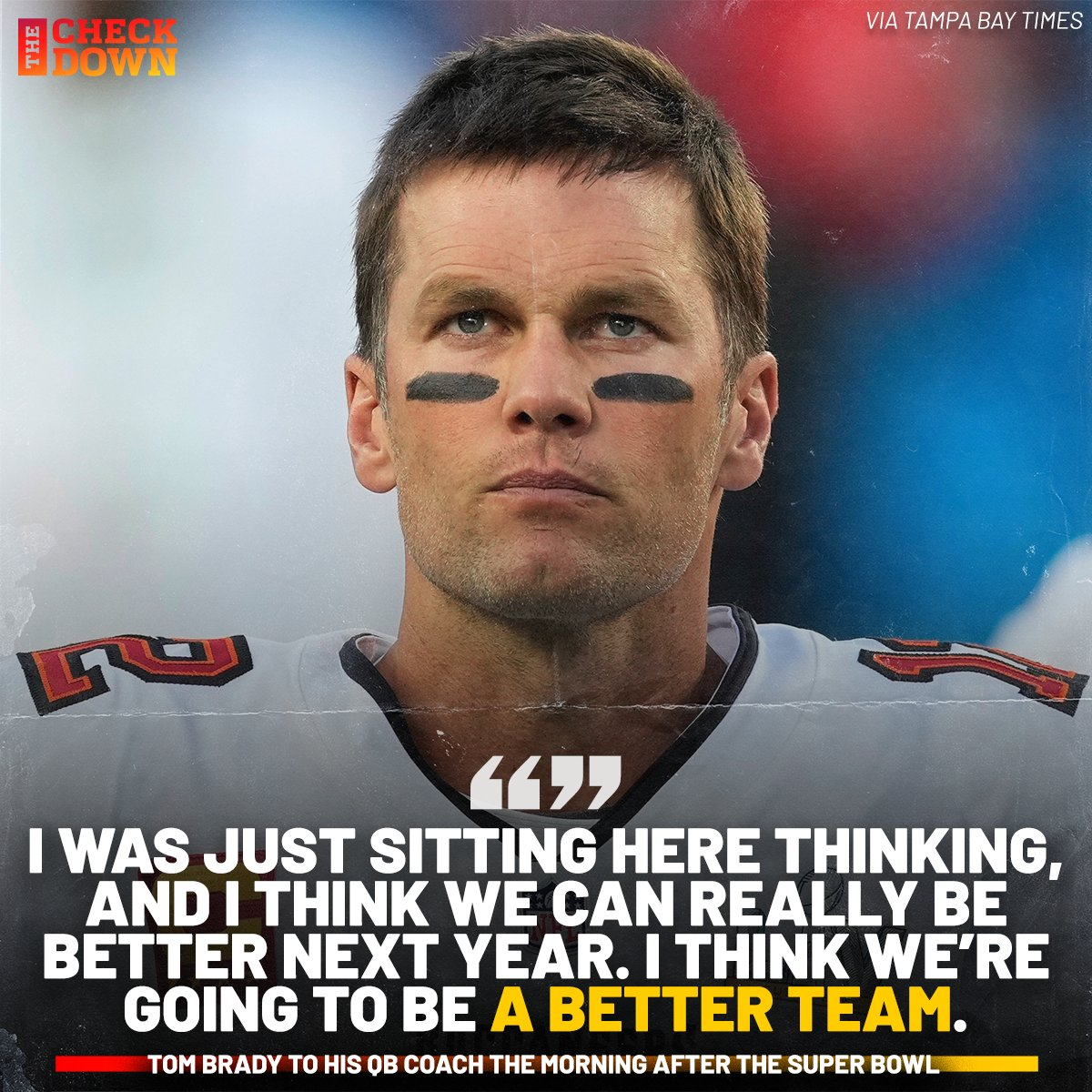 At 8 am the morning after winning the Super Bowl, Brady's mind was already on ring no. 8 🐐 @TomBrady @Buccaneers
