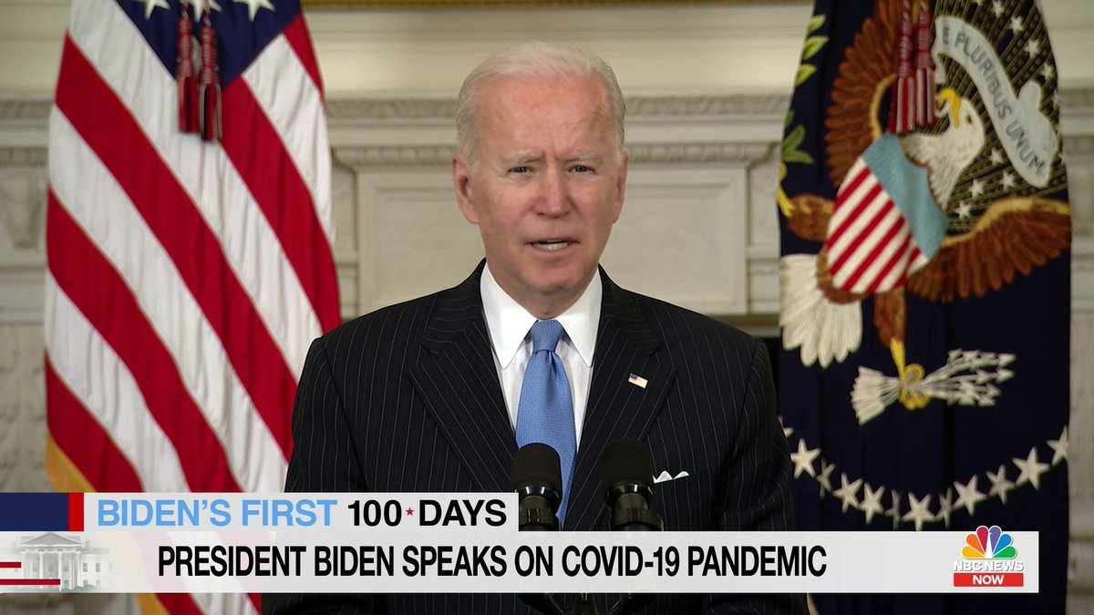 """BREAKING: """"This country will have enough vaccine supply for every adult in America by the end of May,"""" President Biden says, advancing expected timeline by two months. https://t.co/0hZq2862MD"""