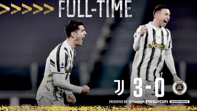 Hasil Juventus 3-0 Spezia