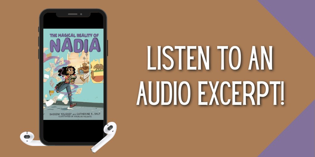 Start listening to an audio excerpt of #TheMagicalRealityofNadia, a new humorous and heartfelt story, perfect for kids 8-12: https://t.co/OPsby7OSXB @Byoussef https://t.co/ddanlVEwiM