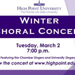 🎤🎶 HPU's Choral Department is performing in their Winter Choral Concert tonight beginning at 7:00 p.m. EST! Livestream the concert here: https://t.co/fnv31rDlBa