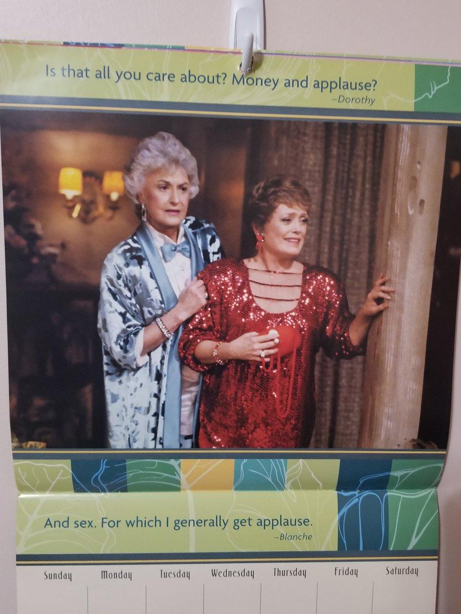 I love my March calendar! #goldengirls