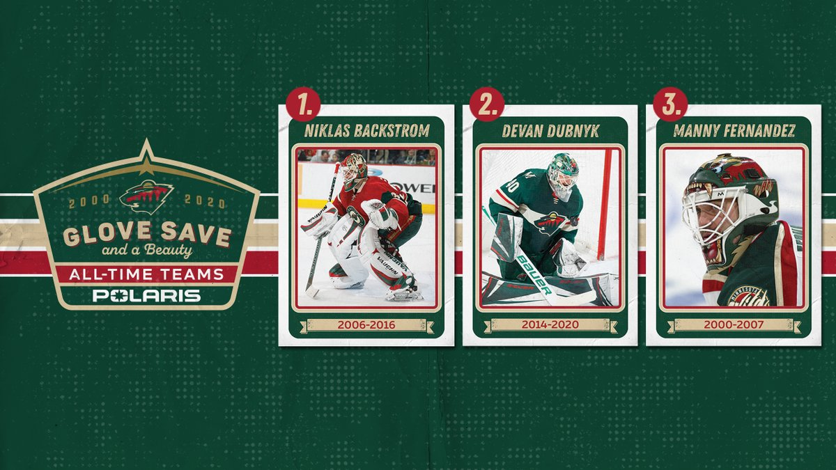 """Here's the #mnwild Glove Save and a Beauty Team!  Vote now for the """"One of Our Own"""" team 🗳 »   Reminder: the grand prize for this contest is a #mnwild branded @PolarisInc snowmobile and emerald necklace."""