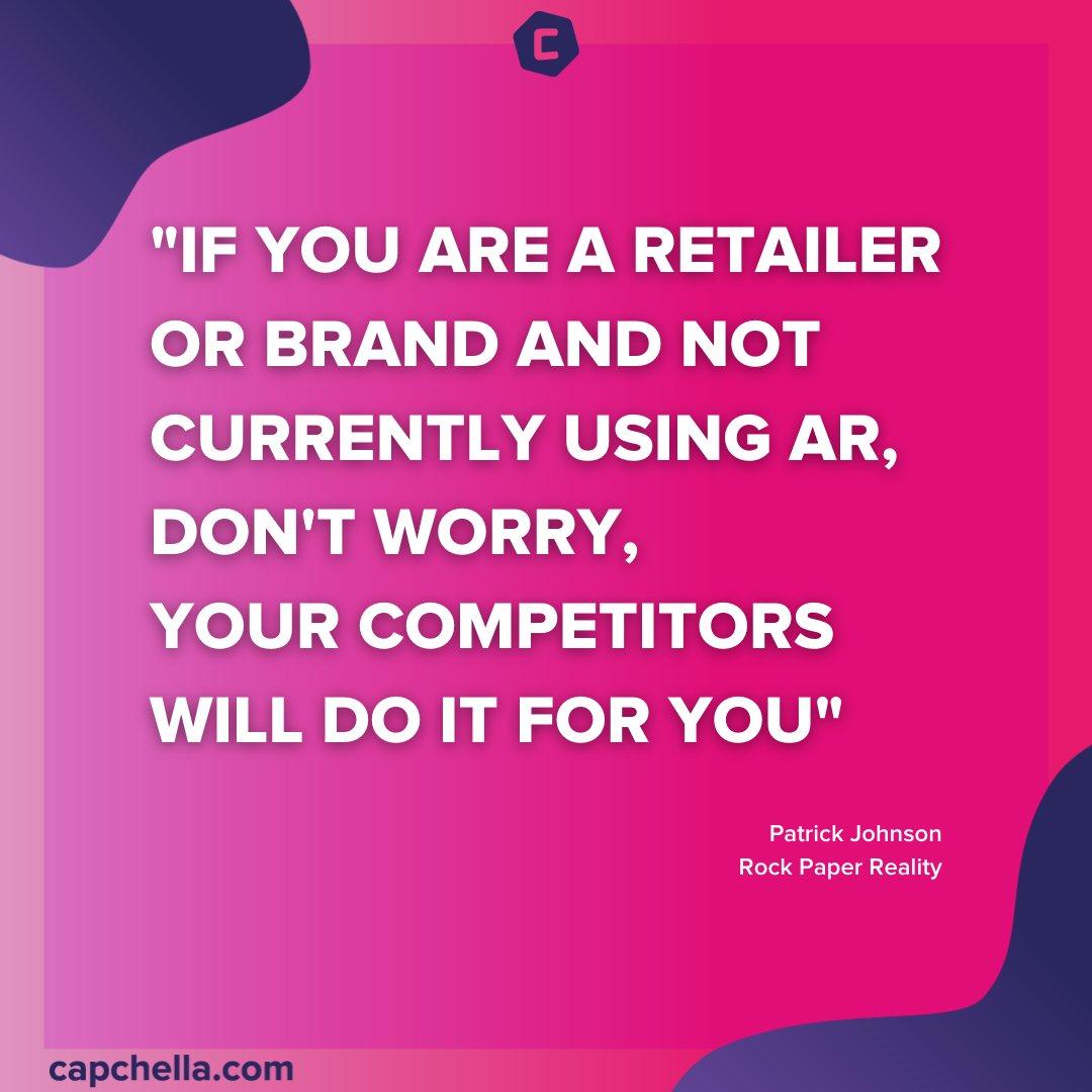 Yep, yep and yep.  Spot on Patrick 👏  #AugmentedReality #WebAR #AR #ecommerce https://t.co/j7SUgK0Mxa