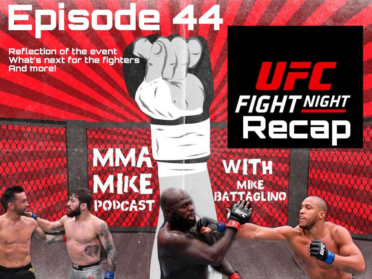 Episode 44 is up! Covering a recap on #UFCFightnight Rozenstruik vs Gane!    UFC259 preview coming soon!  #MMA #MMATwitter #UFC #UFCVegas20 #podcast #new #episode #mmamike #espn #espnplus