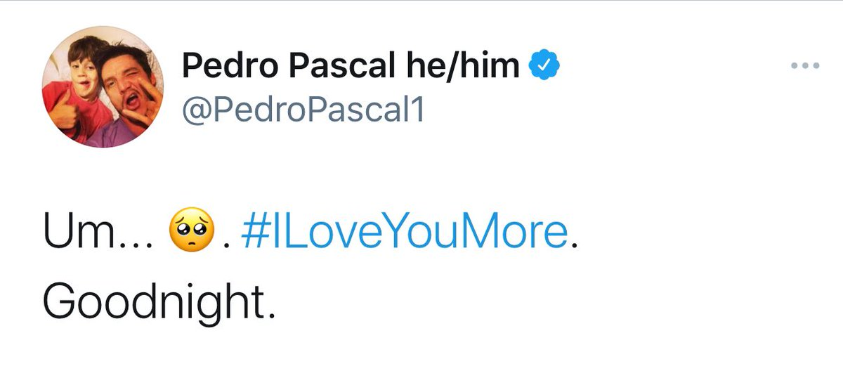 we made pedro smile today 🥺  #WeLovePedroPascal #ILoveYouMore