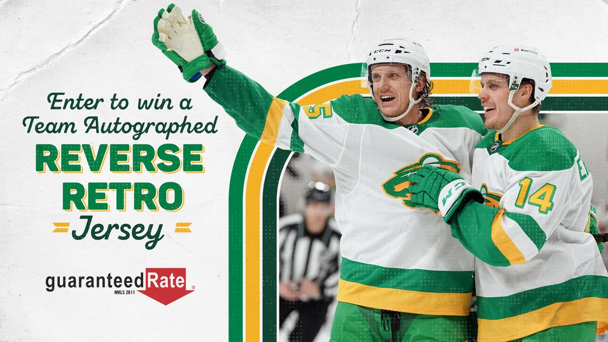 A chance to win a team autographed #ReverseRetro jersey? Sign us up!  More on how to win »   #mnwild | @GuaranteedRate