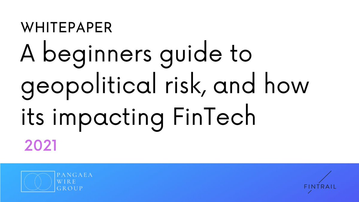 to all #fintech heads including #MLRO 's #analysts #journalists #business #businessstrategy we have a #whitepaper coming out soon that sheds light on a desperately underlooked risk. #geopolitics is going to change FINTECH A LOT. What more insights? DM me https://t.co/B3iVEl7dRS
