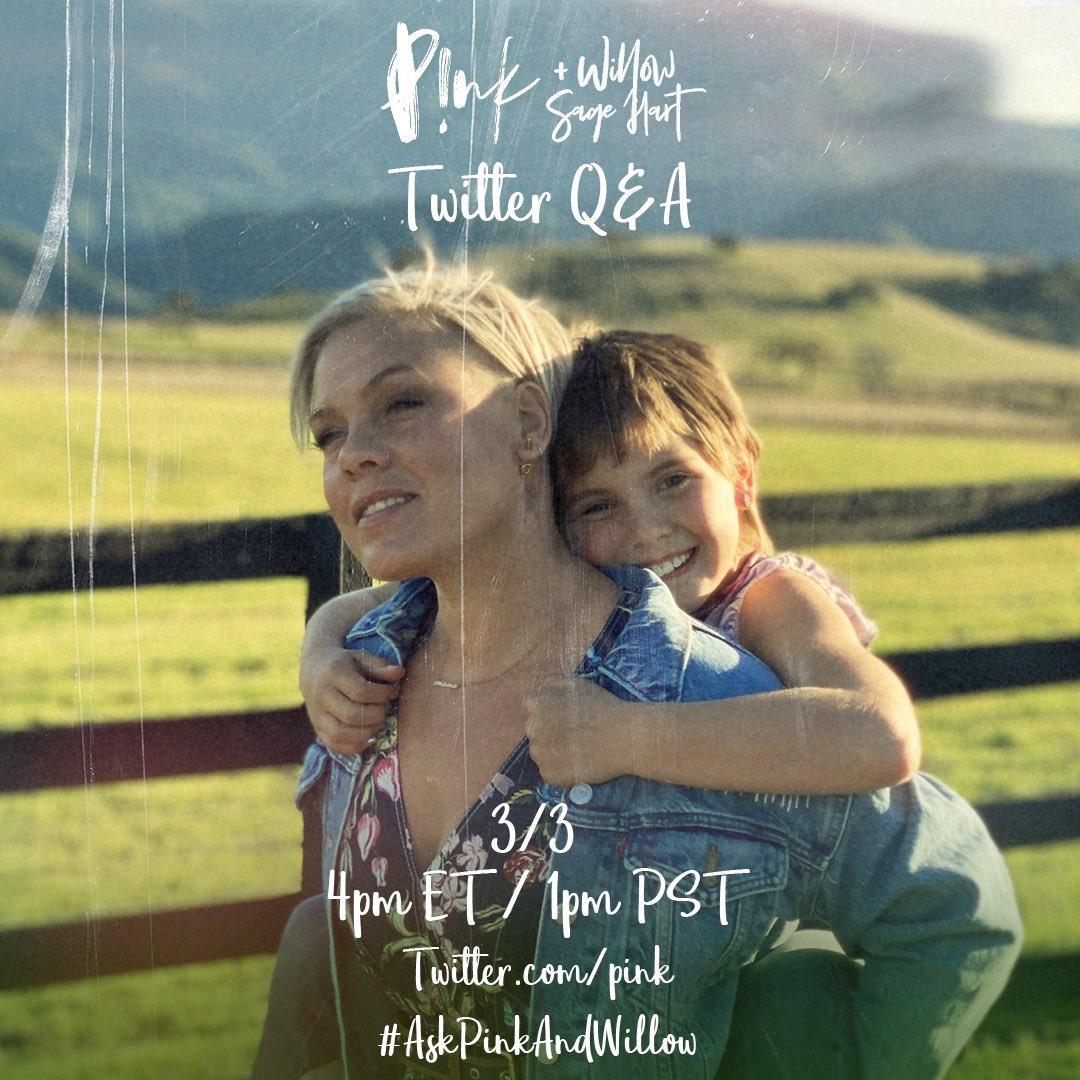 Don't miss our Q&A tomorrow! 💕 #AskPinkAndWillow https://t.co/U4MUgCz6oa