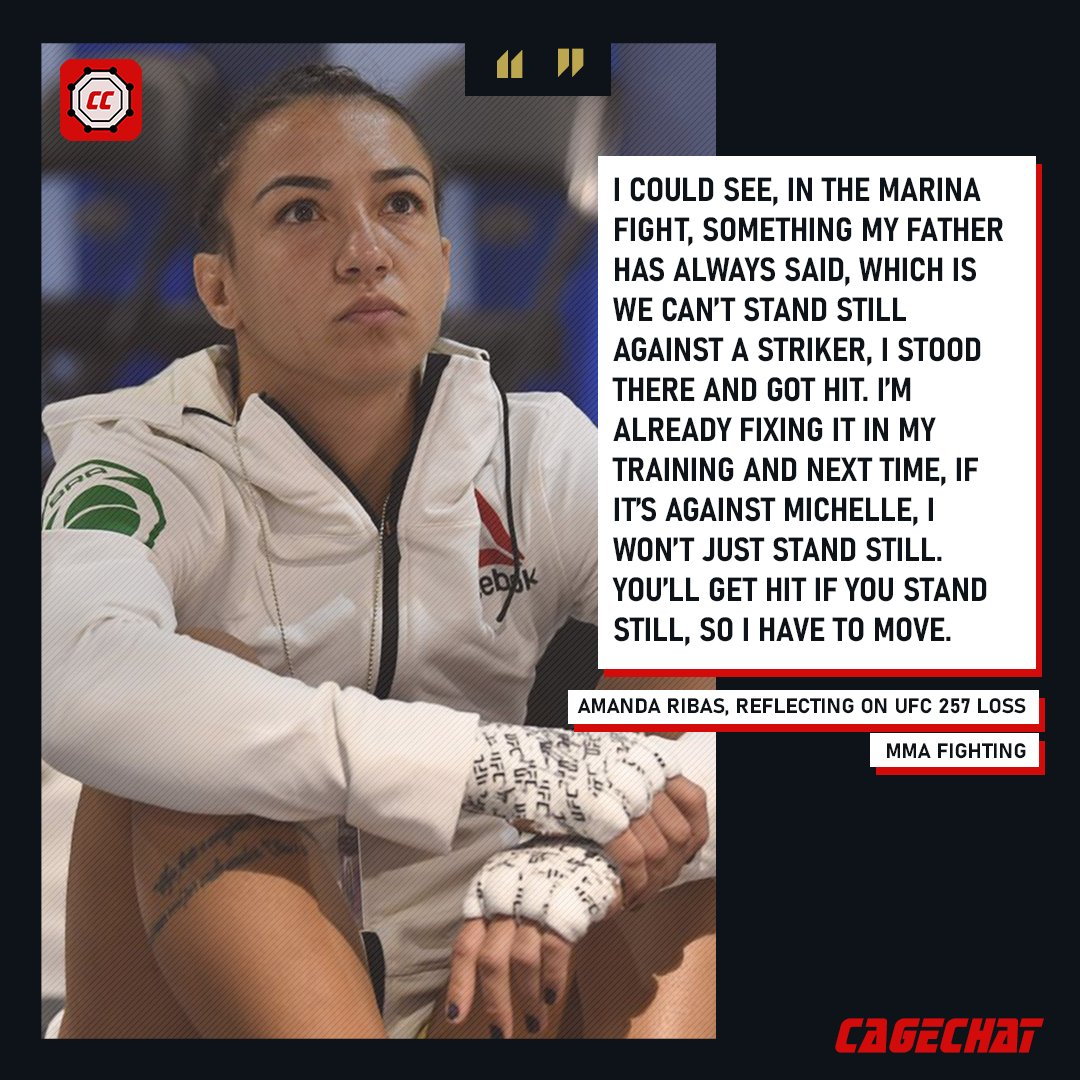 Amanda Ribas is already fixing her wrongs after her loss at #UFC257.