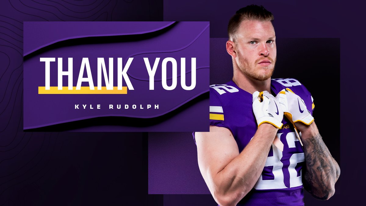 2x Pro Bowler 3x Walter Payton Man of the Year nominee 4x Team Captain Most TDs by a #Vikings tight end  Thank you Kyle for the impact you've made on our organization and the Twin Cities community.