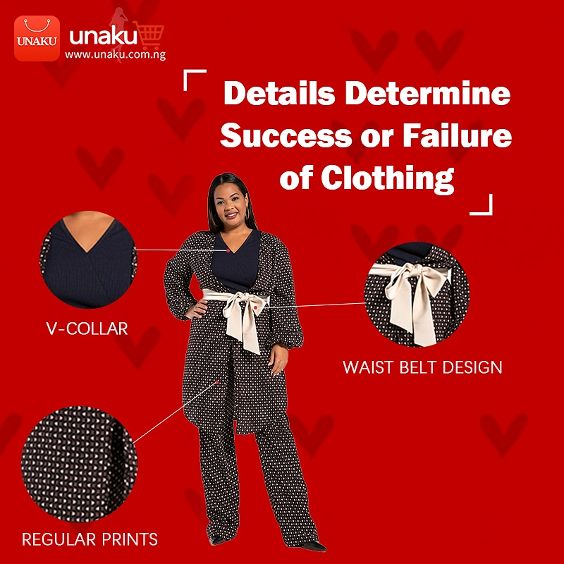 Unaku makes your shopping experience seamless. Unaku focus on highlight detail design, just for your comfort.  Shop: @unaku_fashion Search:Dot printed bouquet waist suit  Shop at   #clothing #fashion #style #clothingbrand #clothes#fabric #fashion