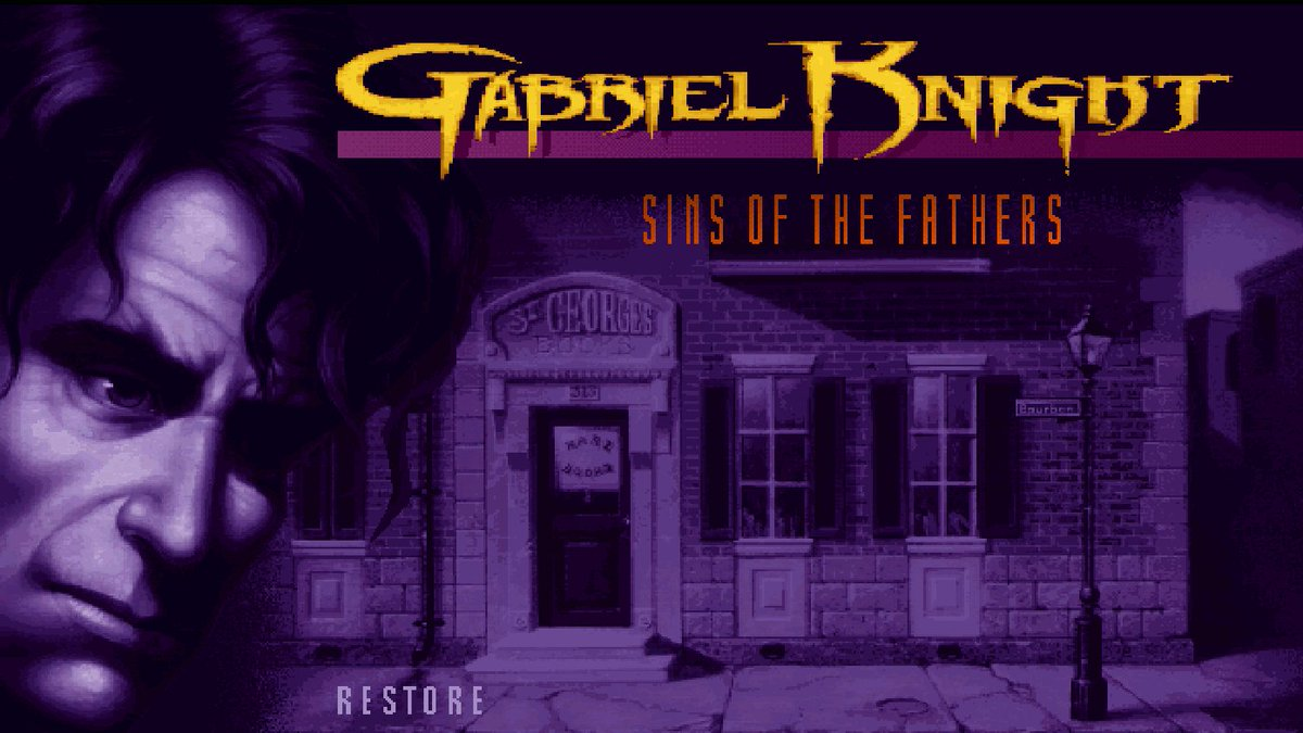 It's a very special Way-back-when-sday! Tonight, we kick off a deadset classic, Gabriel Knight: Sins of The Fathers.  Stream starts 7pm AEST 👍❤️🎮🐍🗡️   #RetroGaming #PointAndClick #AdventureGame #LiveStream #Twitch #Voodoo #NewOrleans #Mystery #Thriller