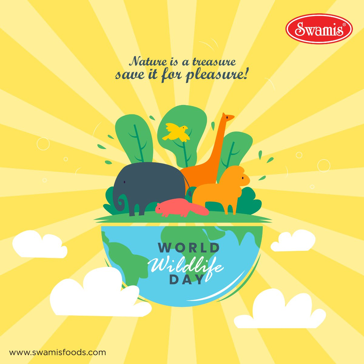 The wildlife and its habitat cannot speak, so we must and we will. World Wildlife Day. #worldwildlifeday #wildlifeday #nationalwildlifeday #wildlifeconservation  #naturelovers #natureconservation #worldwildlifeconservationday #Swamisfoods #food #FoodProducts #tasty #yummy #spices