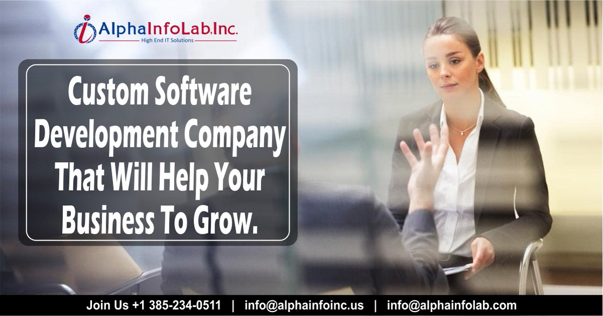Custom software development company that provide solutions and increases the sales potential of the business.  🌐   #Alphainfolab #SoulofaNation #TaylorsVersion #GuiltyGOP #NewAmsterdam #wednesdaythought #TopITsolutions #WorldWildlifeDay2021 #Brandidentity