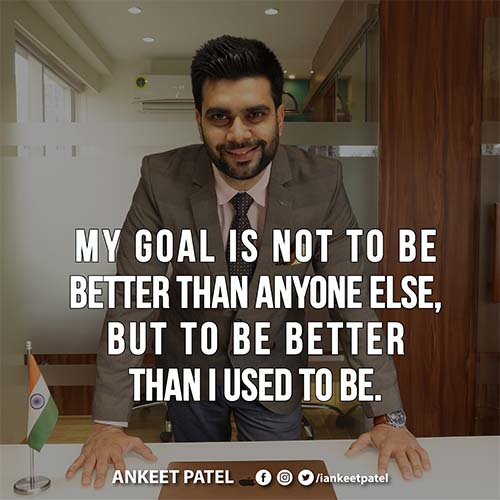 My goal is not to be better than anyone else, but to be better than I used to be. . . . . . . #lifestyle #quotes #gentleman #monday  #motivation #hardwork #success #work #style #lifestylebyankeetpatel #lifestylebyap #lifestyle #menfashion #love #whatiwear #shadeiwear