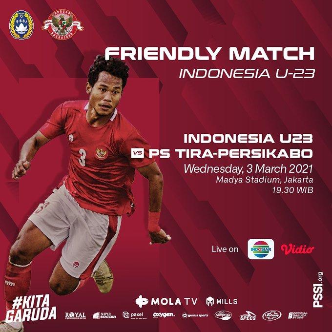 Timnas U23 Indonesia vs Tira Persikabo