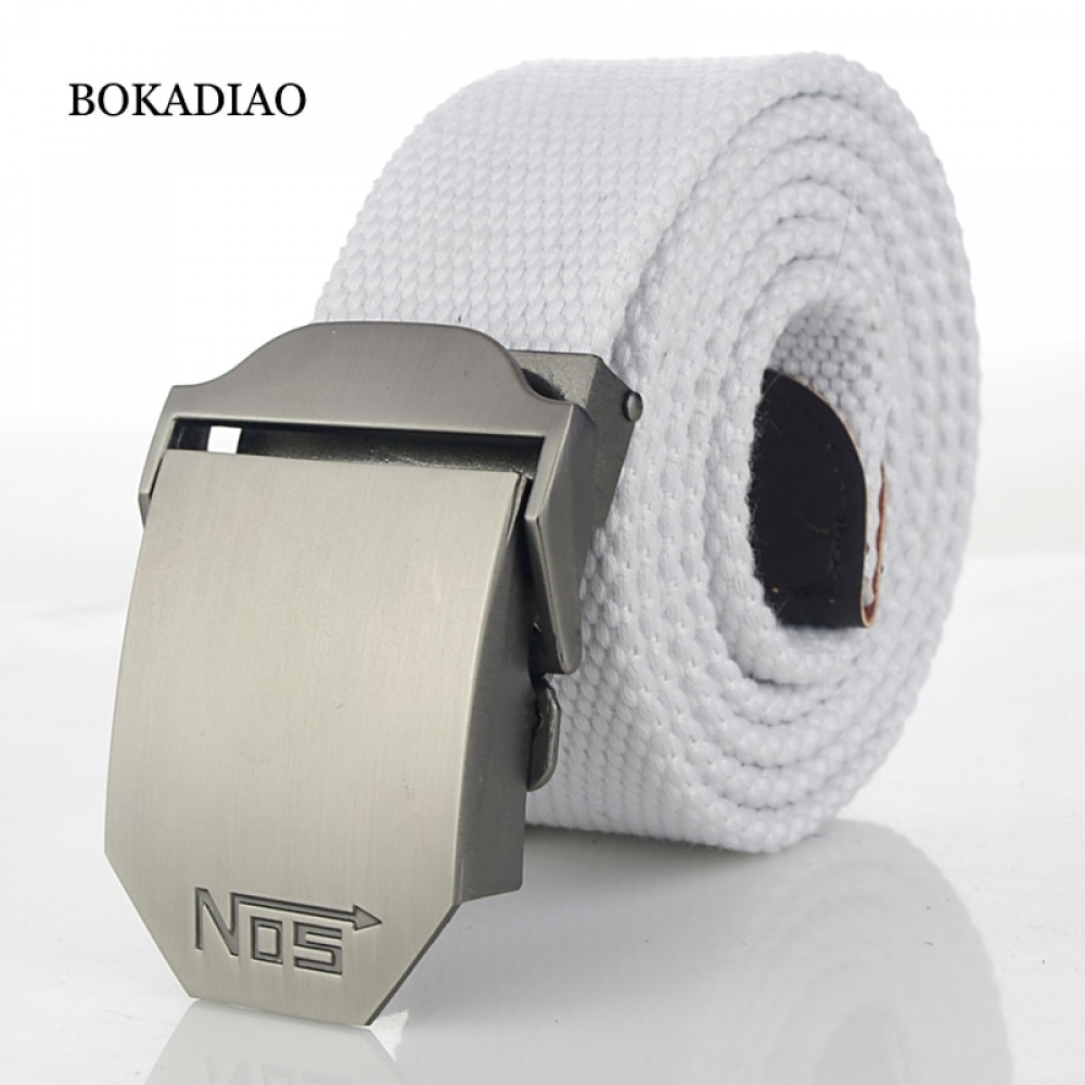 #bags #shopping #smile #accessories #likeforlikes BOKADIAO Men&Women Military Canvas belt luxury Metal buckle jeans belt White Army tactical belts for women waistband strap male