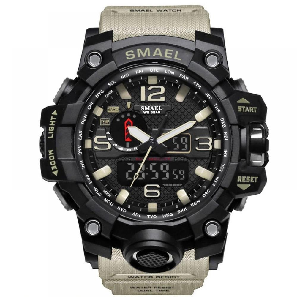 Men's Military 50m Waterproof LED Quartz Watch #fashion #style