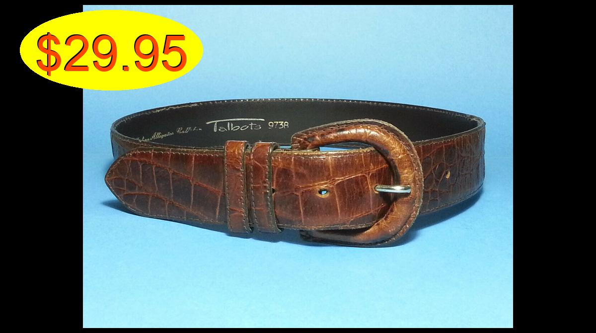 Talbots #women Brown Italian Alligator #leather #b