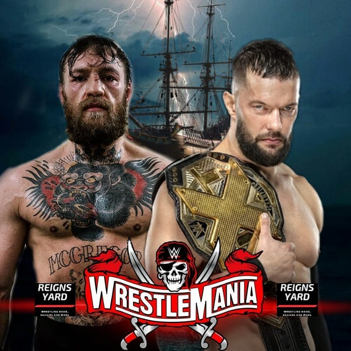 Do You Want To See This Match At WrestleMania...?  #ConorMcGreGor #FinnBalor #WrestleMania