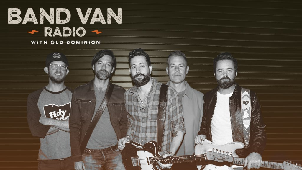 .@OldDominion share stories from the road and the music that influenced them on #BandVanRadio.  Listen now on Apple Music Country: