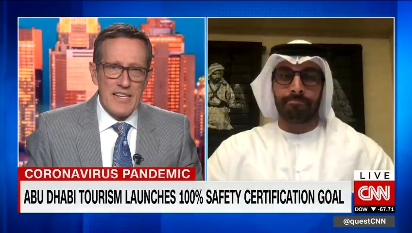 "Abu Dhabi's #tourism sector could start showing ""hints"" of a rebound ""towards the end of this summer,"" says @dctabudhabi Chairman Mohamed Al Mubarak. Hear his thoughts on #vaccine passports, ""vaccine holidays,"" and Abu Dhabi's 100% ""Go Safe"" certification goal. https://t.co/8HQEs8Bwqb"