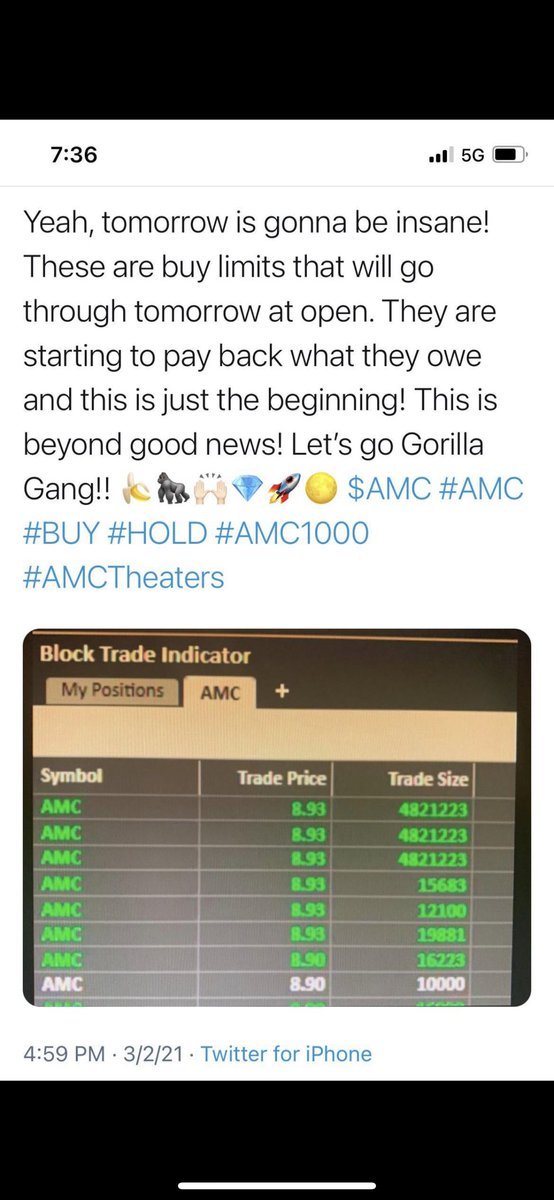 #TOMORROWXTOGETHER #AMC #saveAMC #HoldTheLine  @reddit  @TradesTrey