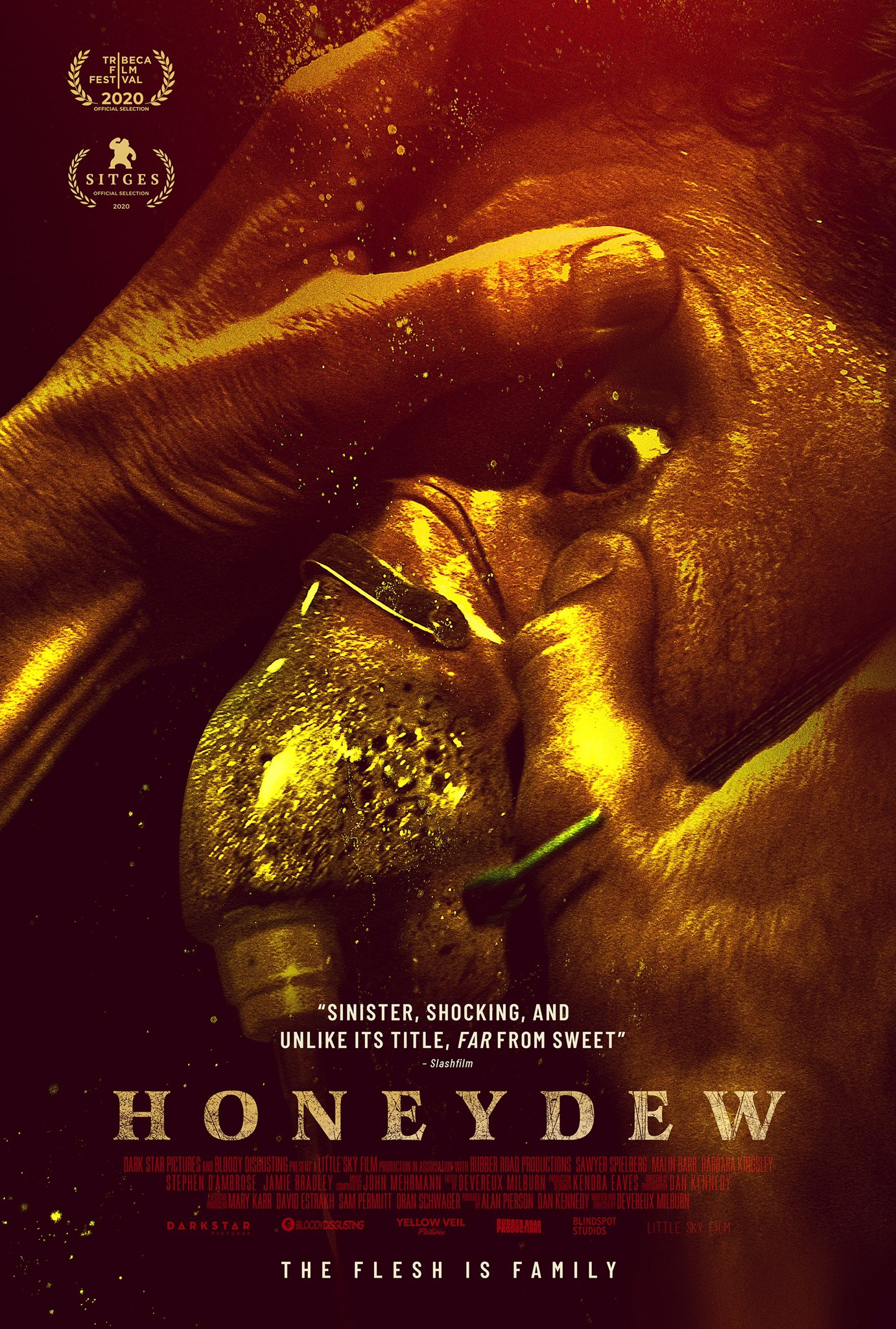 """Chris on Twitter: """"Thrilled to share our new poster for the truly stomach  churning horror film, Honeydew. https://t.co/RbC0VDDqum"""" / Twitter"""