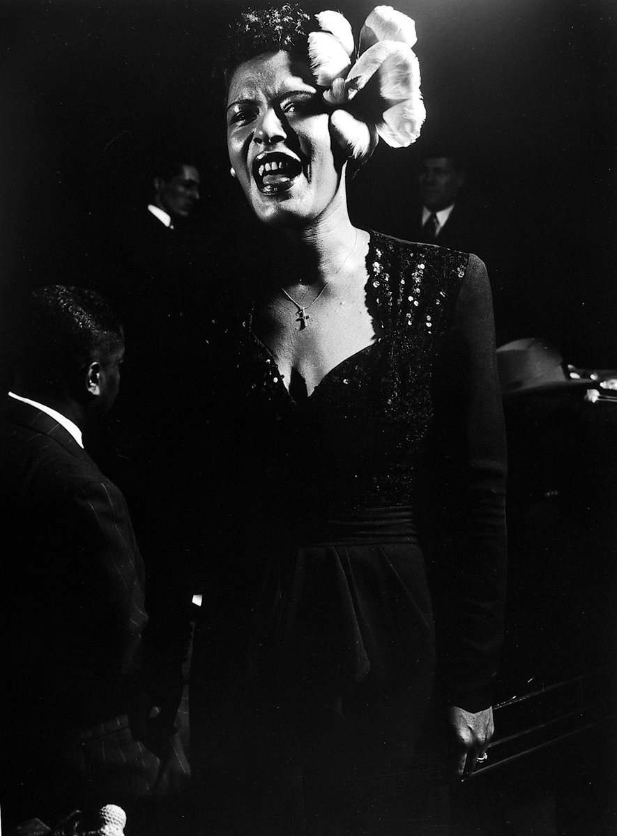 Billie Holiday • Gjon Mili • n.d. #blackandwhite #photography  #blackandwhitephotography