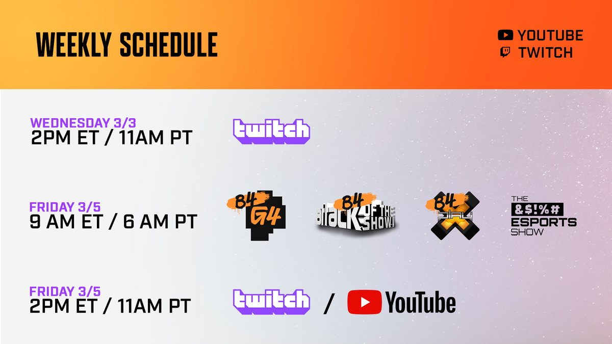 GOOD EVENING MY INTERNS! Dropping off our schedule so no one misses any content on our universe of channels!  1⃣  2⃣  3⃣  4⃣  5⃣