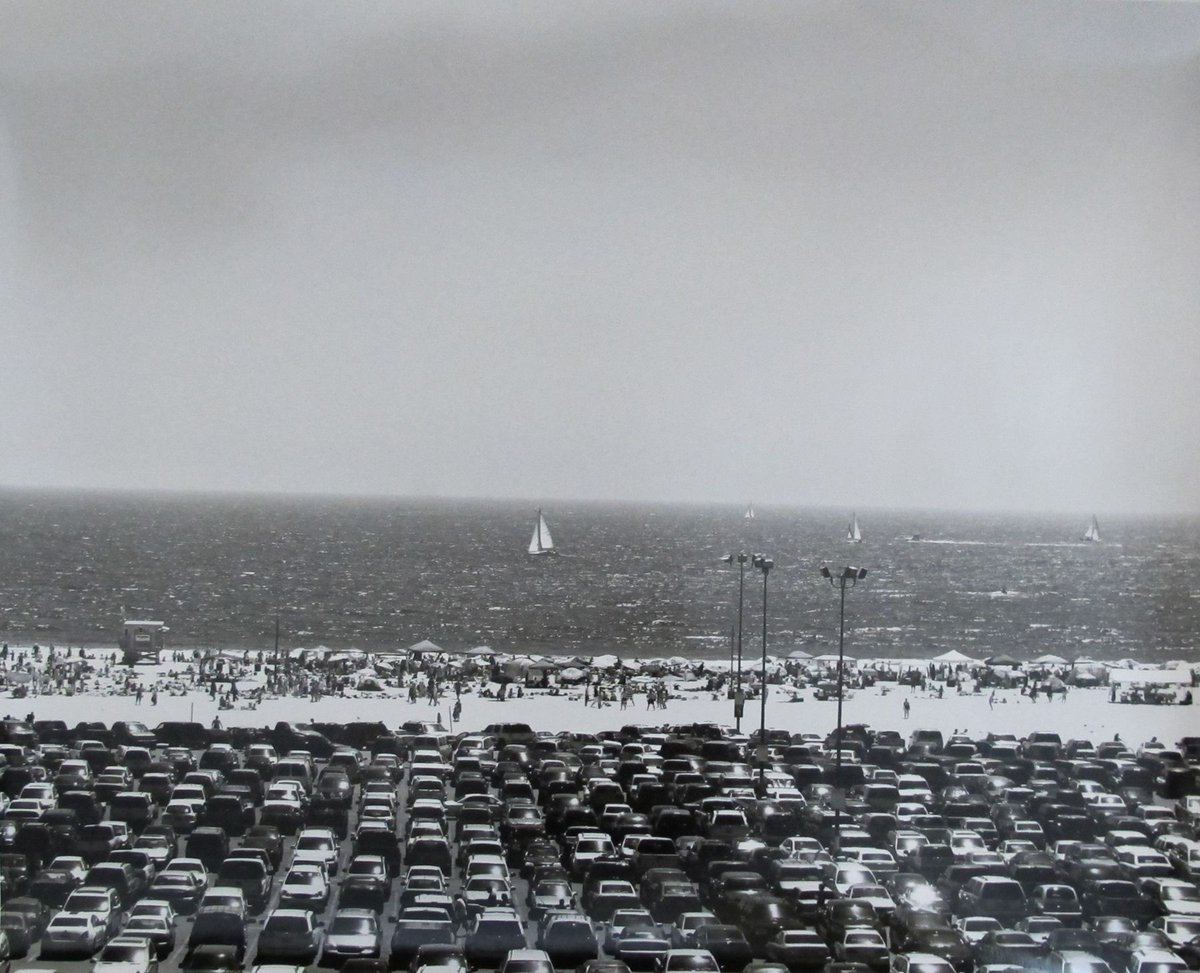 Los Angeles, (Santa Monica beach parking lot) • Bruce Davidson • 2008 #blackandwhite #photography #blackandwhitephotography