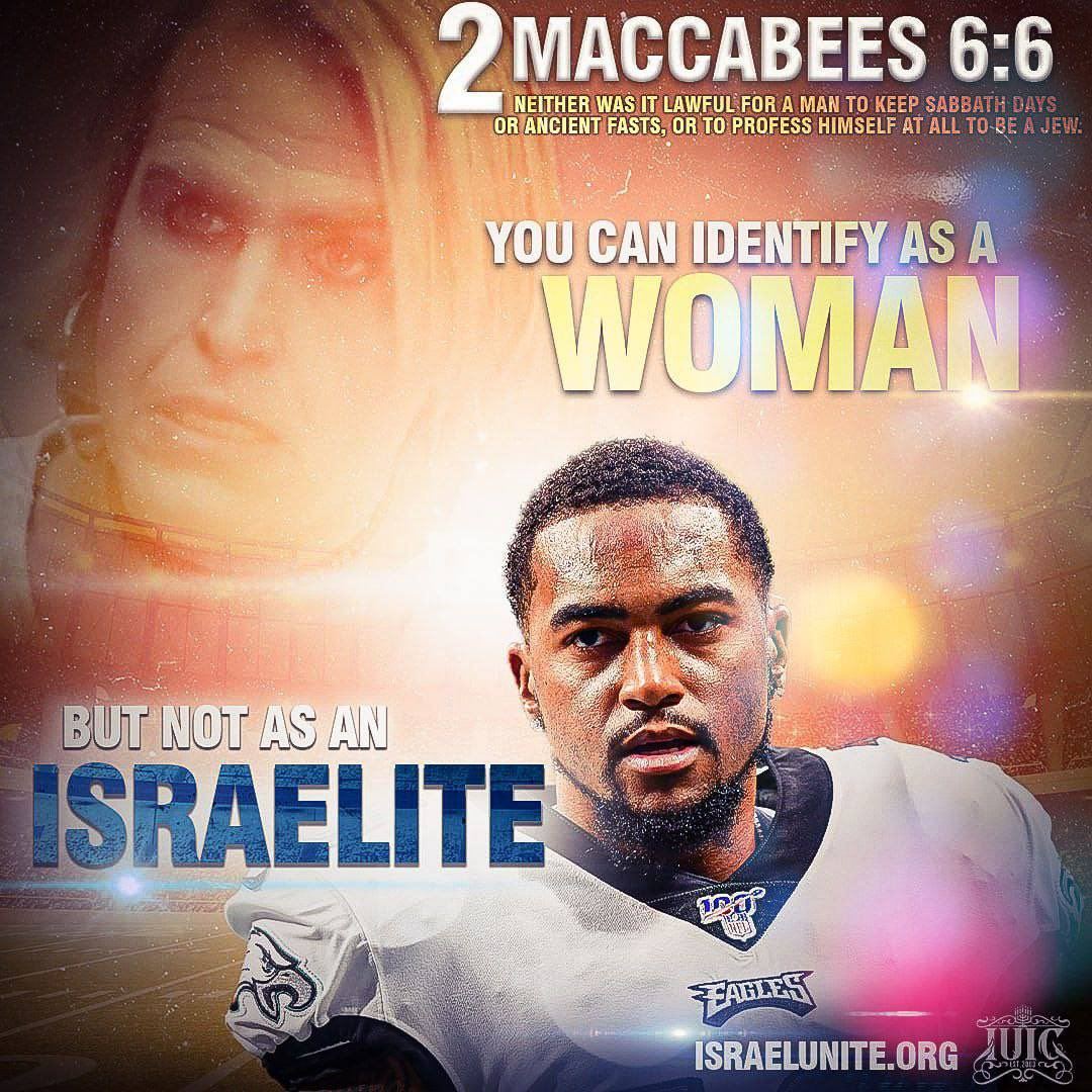 The #NFL is against #BlackMen standing up for their own people! The 1st amendment does not apply for anyone who says they are the #Israelites! Ask yourself why does the world not want #BlackMen admitting they are indeed the true children of #Israel!